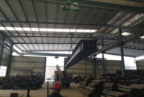 厂区H型钢展示